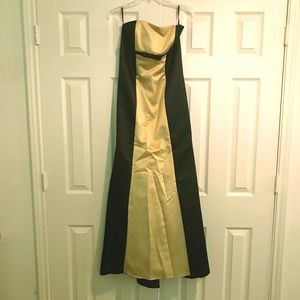 Formal Black and Gold Dress